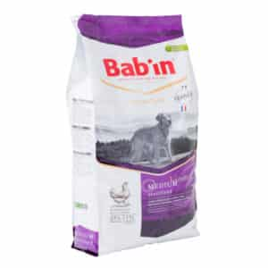 1 paquet de 15 kg de croquettes pour chien BAB'IN STERILISED