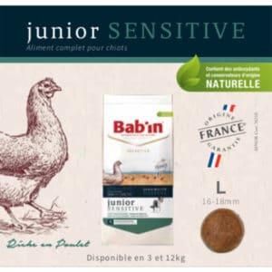 Junior Sensitive Riche en Poulet