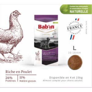 croquettes chien Bab'in Sterilised