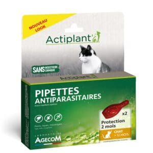 1 boîte de 2 pipettes, insectifuges chat >12 mois