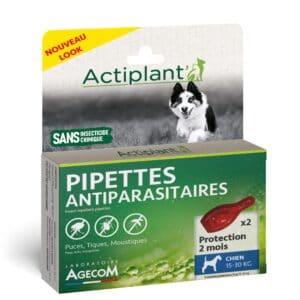 1 boîte de 2 pipettes insectifuges chien 15-30 kg