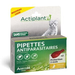 1 boîte de 2 pipettes, insectifuges chaton >2 mois
