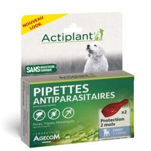1 boîte de 2 pipettes, insectifuges chiot >2 mois