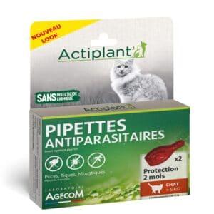 1 boîte de 2 pipettes, insectifuges chat >5 kg