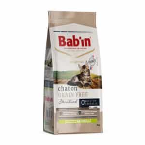 1 paquet de 2 kg de croquettes sans céréales chaton/BAB'IN CHATON