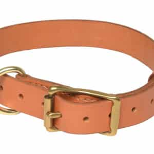 Collier cuir simple pour chien couleur London.