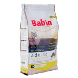 1 paquet de 12 kg de croquettes pour chien adulte BAB'IN Sensitive Riche en Agneau