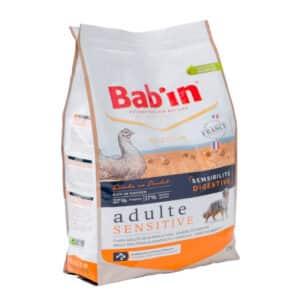 1 paquet de 12 kg de croquettes pour chien adulte BAB'IN SENSITIVE Riche en Poulet