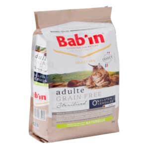 1 paquet de 2 kg de croquettes chat adulte/ BAB'IN sans céréales