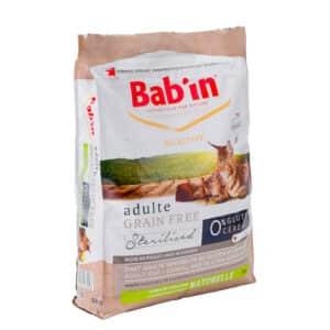 1 paquet de 8 kg de croquettes chat adulte/ BAB'IN sans céréales