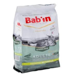 1 paquet de 2 kg de croquettes chat adulte/ BAB'IN CHAT au canard