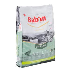 1 paquet de 8 kg de croquettes chat adulte/BAB'IN CHAT au canard