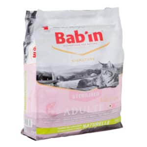 1 paquet de 8 kg croquettes chat adulte/ BAB'IN au saumon