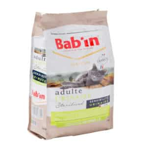 1 paquet de 2 kg de croquettes chat adulte/ BAB'IN URINAIRE