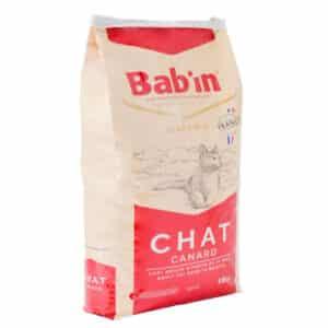 1 paquet de 15 kg de croquettes pour chat adulte/ BAB'IN au canard