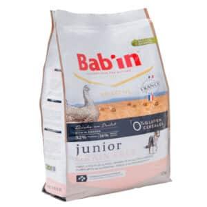 1 paquet de 12 kg de croquettes sans céréales pour Chiot /BAB'IN Junior Grain Free