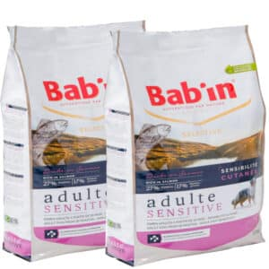 LOT DE 2 PAQUET de 12 kg/ Croquettes chien BAB'IN au Saumon