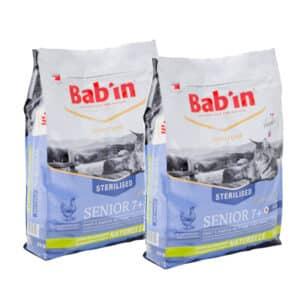 LOT DE 2 PAQUETS de 8 kg de croquettes/ BAB'IN CHAT SENIOR 7+