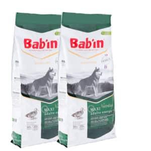 Lot de 2 paquets de croquettes de 15 kg chien adulte /Bab'in MAXI ADULT ENERGIE(grande race)