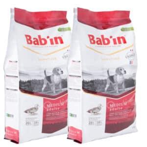 LOT DE 2 PAQUETS de 15 kg de croquettes/ Bab'in Medium Adulte
